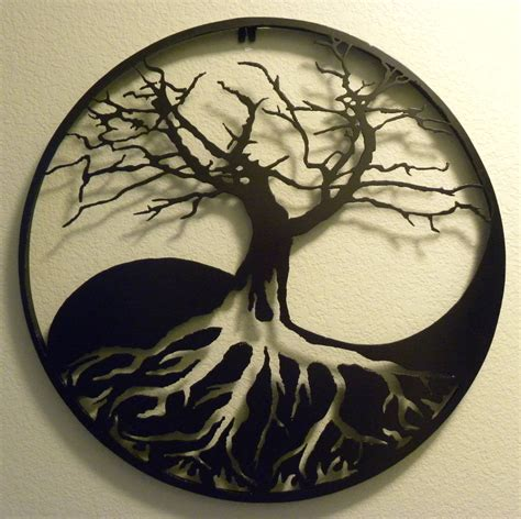yin yang tree tattoo 20 creative handmade wall pieces style motivation
