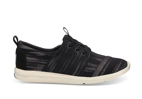 Toms Shoes Gift Card - black brushed woven women s del rey sneakers toms 174