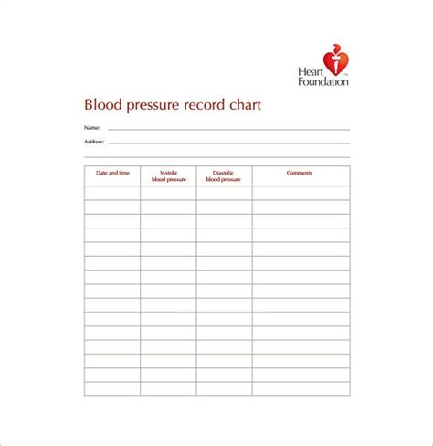 blood pressure cards template blood pressure chart template 13 free excel pdf word