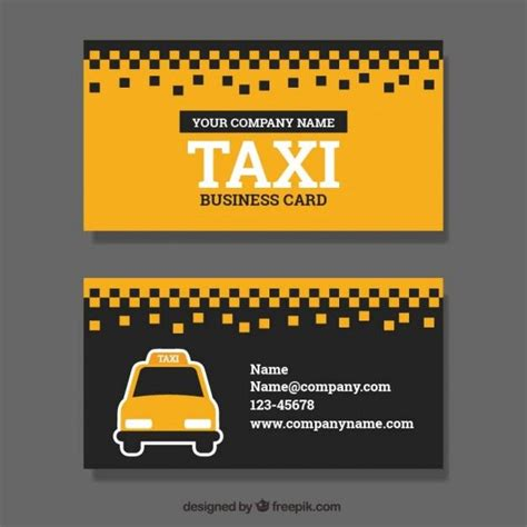 cab driver business card template taxi service business card free vector business cards