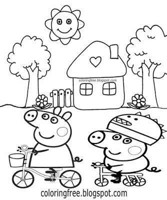 peppa pig house coloring pages peppa pig house colouring pages sketch coloring page