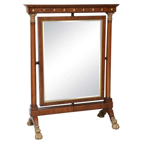 mirrored fireplace screen empire dressing vanity mirror fireplace screen 19th century at 1stdibs