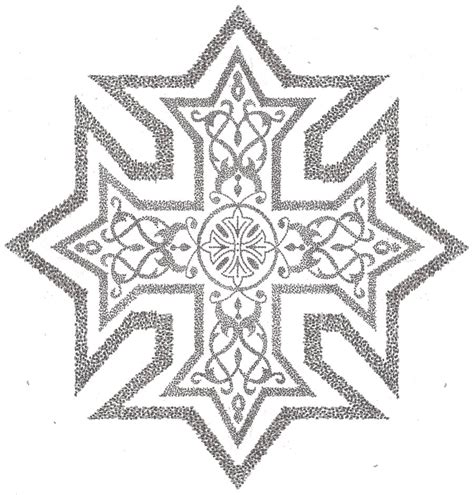 ethiopian cross tattoo designs coptic cross with frame by shurumitattoomi on deviantart