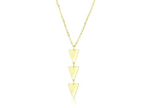 Triangle Layer 3 layer triangle pendant in 14k yellow gold richard