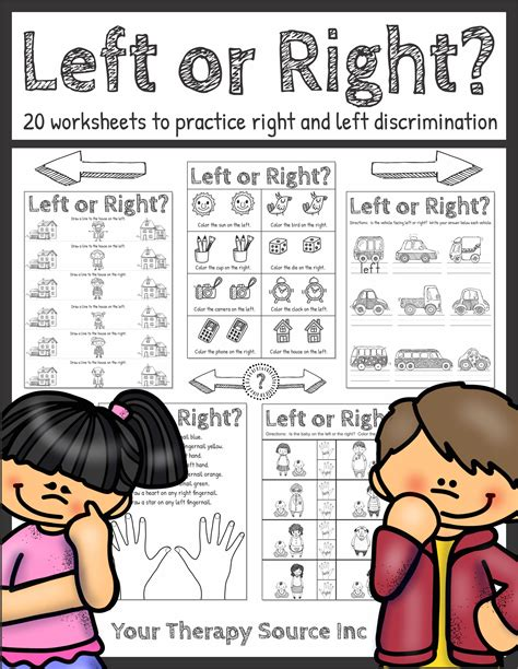 st on right or left spatial concepts worksheets printable ready to use