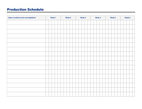 production schedule template excel free free printable production schedule template and sheet