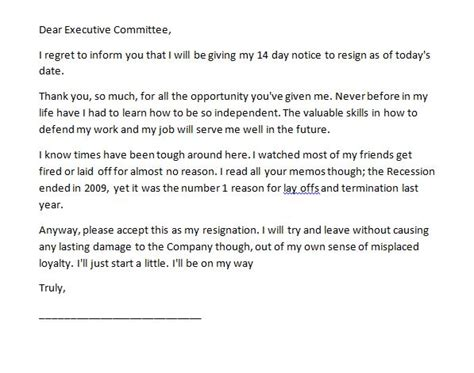 resignation letter 2 week notice resignation letter exle to employer 2 week notice