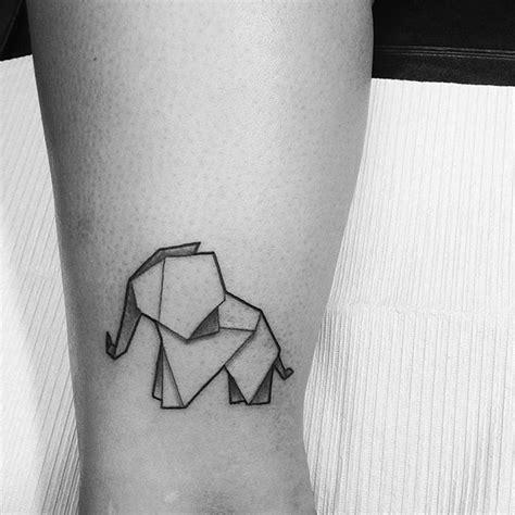 tattoo elephant origami geometric tattoo from sketch to tattoo elephanttattoo