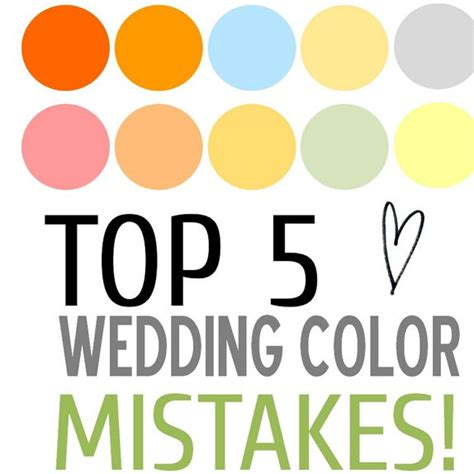 Wedding Advice Websites by Top 5 Wedding Color Mistakes Ways To Avoid Them