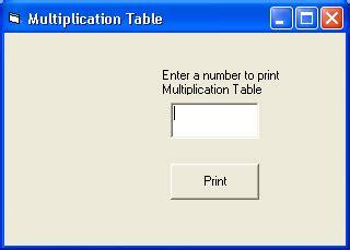 print multiplication table in vb ignou vb 97 print multiplication table