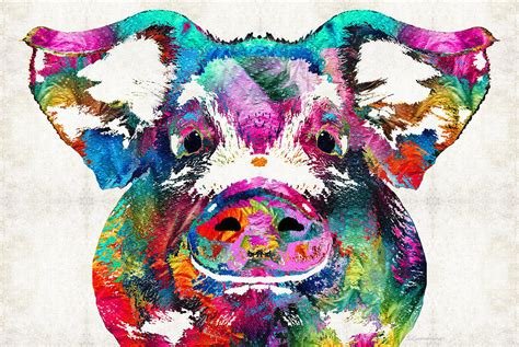 colorful painting colorful pig squeal appeal by painting by