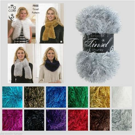 king cole free knitting patterns details about king cole tinsel chunky fur like knitting