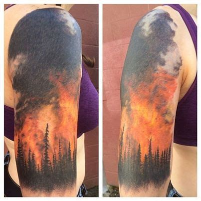 quarter sleeve forest tattoo pinterest the world s catalog of ideas