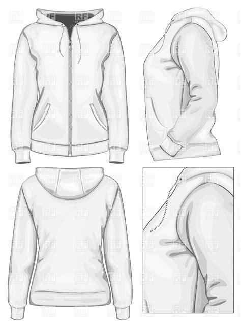 desain jaket hoodie zipper women s hooded sweatshirt with zipper royalty free vector
