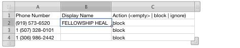 Partial Phone Number Lookup Blocking Calls