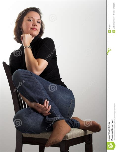 The Chair Photography by Portrait Of An Attractive Sitting On A Chair