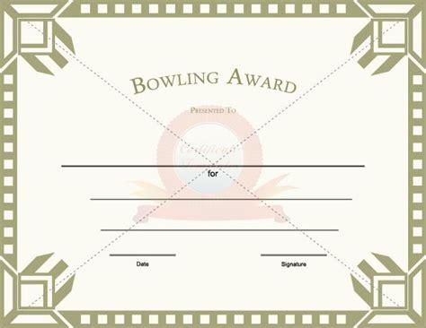bowling certificate template free bowling award template certificate template