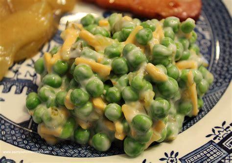 Main Dish Casserole - simple pea salad