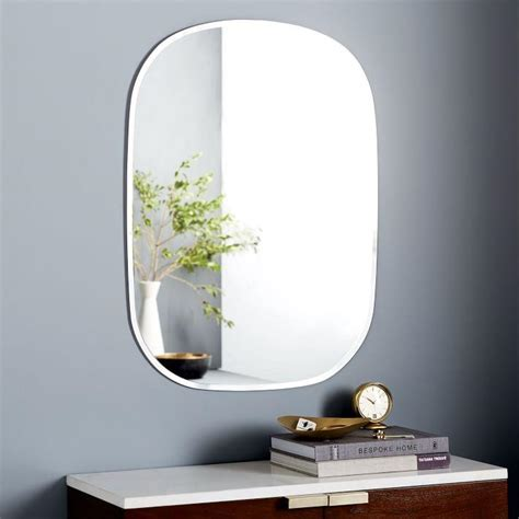 rectangle bathroom wall mirror with lighted frame of rectangle wall mirror pertaining to no frame wall mirrors