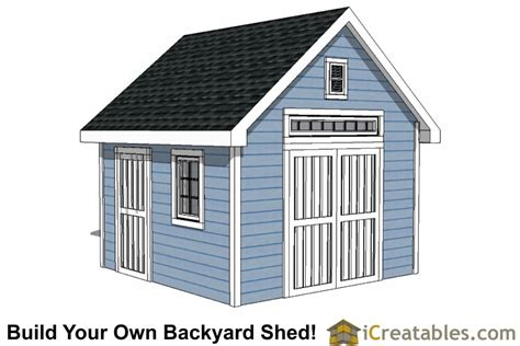 12x12 traditional backyard shed plans