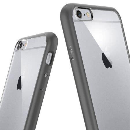 Spigen Ultra Hybrid Iphone 6 Plus 6s Plus Clear spigen ultra hybrid iphone 6s plus 6 plus bumper gunmetal