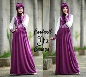 Gamis Flower Ungu Dress Maxi Longdress Baju Syar I baju gamis pesta canaya brokat p22 model gaun pesta remaja muslimah modern