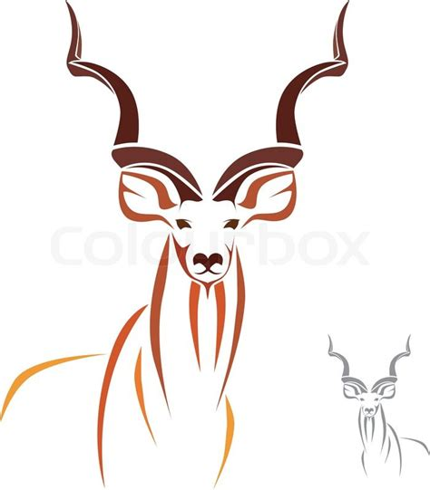 vector image of an kudu stock vector colourbox