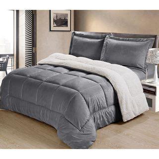 serta micro mink reverse to sherpa 3 piece comforter set