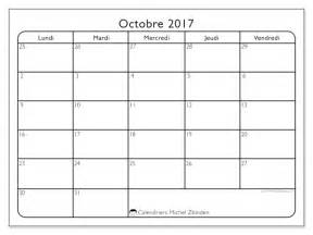 Calendrier Octobre 2017 à Imprimer Calendriers Octobre 2017 Ld