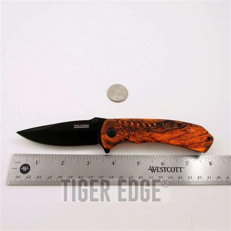 orange camo pocket knife 4 5 quot orange camo sturdy assisted folding pocket knife