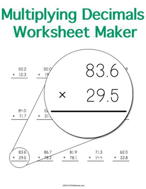 printable worksheets multiplying decimals customizable and printable multiplying decimals worksheet