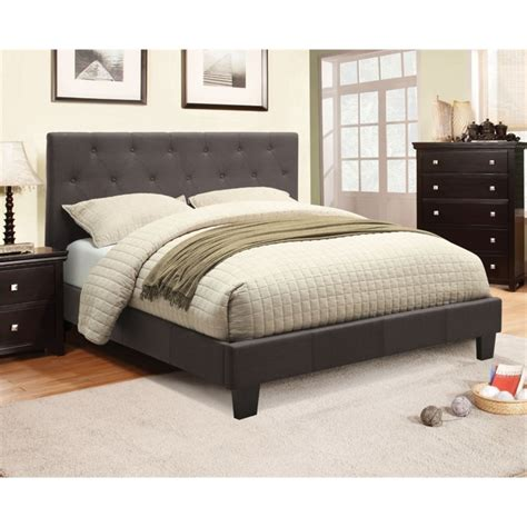 tufted platform bed king furniture of america verin california king tufted platform