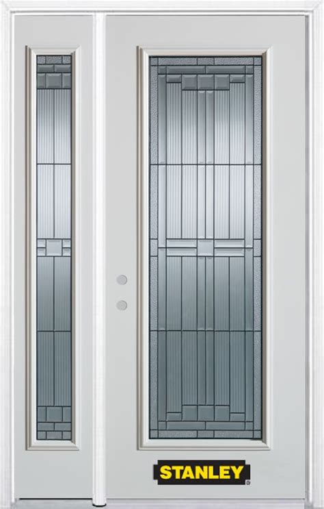 Home Depot Canada Doors Exterior Stanley Doors 48 In X 82 In Lite Pre Finished White Steel Entry Door With Sidelites And