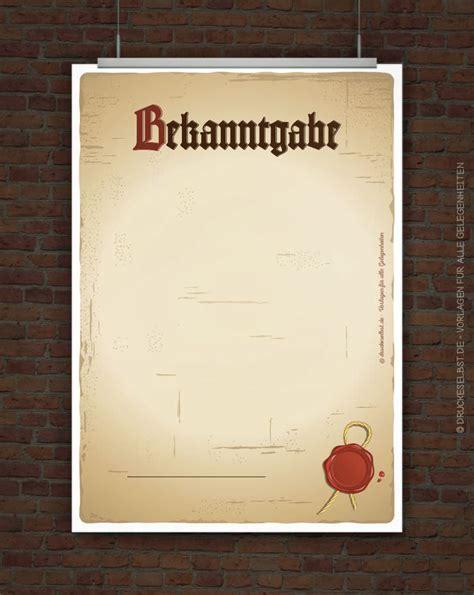 Vorlage Word Mittelalter Drucke Selbst Altes Papier Mit Siegel Vorlage