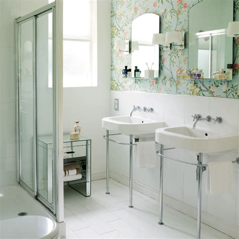 Wallpaper In Bathroom Ideas by Modern Wallpaper For Bathrooms Ideas Uk