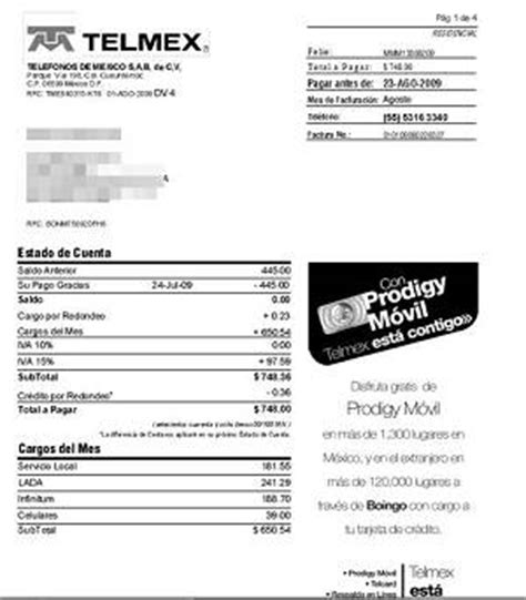 tencia 2015 imprimir recibo df ift aprueba nuevo formato de recibo de telmex la prensa
