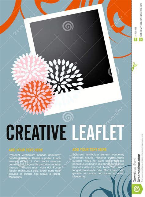 leaflet design royalty  stock  image