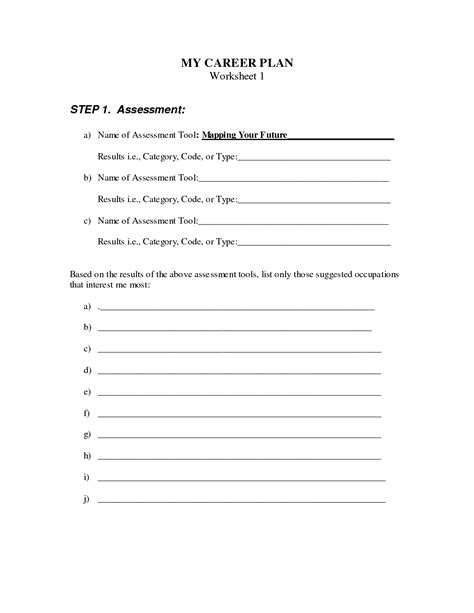 Career Worksheets For Middle School by 12 Best Images Of Career Exploration Worksheets Middle School Career Research Worksheet High
