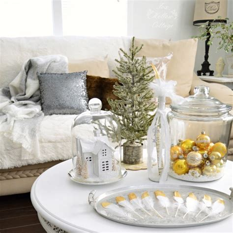decorating ideas for after christmas diy thanksgiving table with gold feather polka dot place cards fox hollow cottage