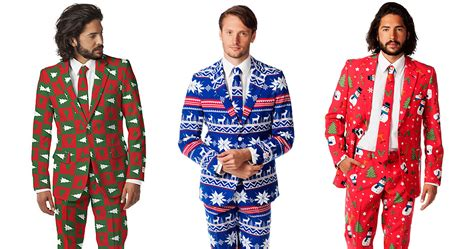 ugly christmas sweaters turned into stylish suits bored