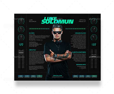 Madjestik Dj Press Kit Dj Resume Dj Rider Psd Template By Vinyljunkie Epk Template