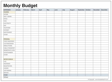 Monthly Budget Template Doliquid Budget Template For Adults