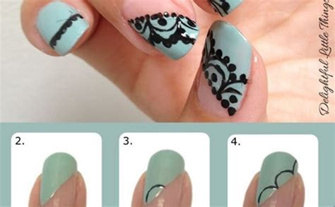 nail art lace tutorial nail design idea inspired by lace alldaychic