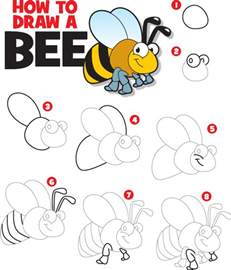 How To Draw A How To Draw A Bee Kid Scoop