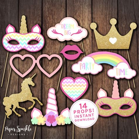 printable unicorn photo booth props unicorn props unicorn party props unicorn party unicorn