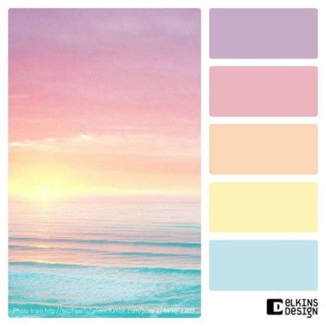 sunset colors color palette ideas lovely fresh spring pastel color palette beachdecor