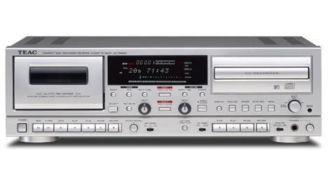 cd recorder deck teac cd recorder cassette deck ad rw950 s silver fast