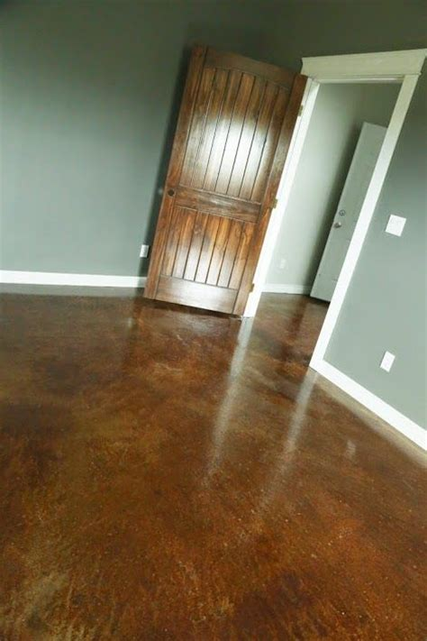 staining and finishing concrete floors white ideas