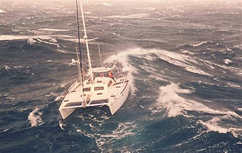 catamaran sailing heavy seas catamaran sailing part 6 heavy weather yachting world