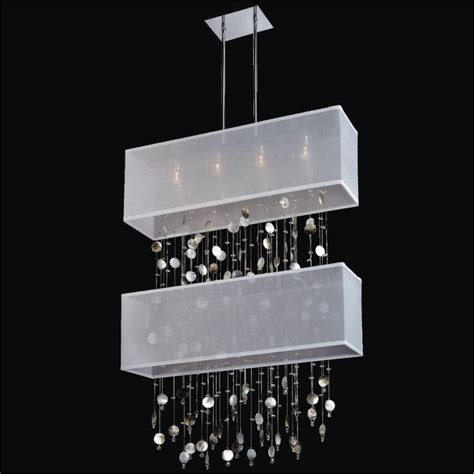 mother of pearl chandelier lighting mother of pearl light fixture rectangular shade